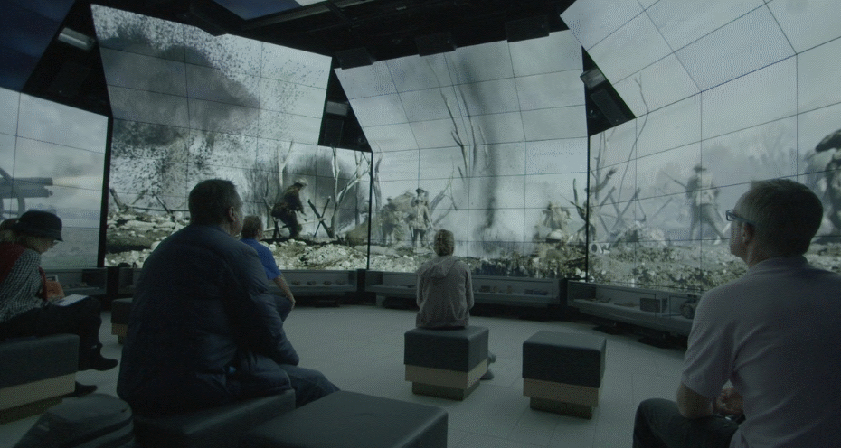 Sir John Monash Centre Immersive Gallery in use